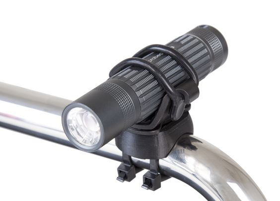 Our new and improved Bike Mount with fully rotating universal clamp-antivibration grip. Fits almost every Bike bar and a wide range of our Q-series torches.