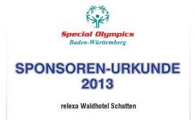 Wir freuen uns riesig! Das Team des relexa Waldhotel Schatten in Stuttgart erhielt eine Sponsoren-Urkunde für die Unterstützung der Special Olympics in Baden Württemberg. Eine tolle und sehr förderungswürdige Sache, wie wir finden. #sponsoring #SpecialOlympics