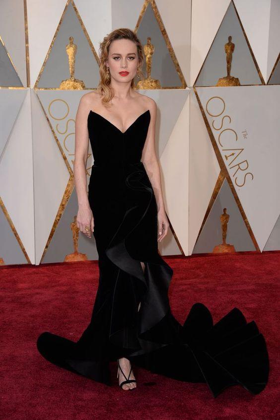 Oscars 2017 Brie Larson look robe Oscar de la Renta