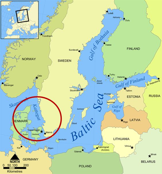 For Those Who Want To Know Where Kattegat Is Vikings - Sweden map hedestad