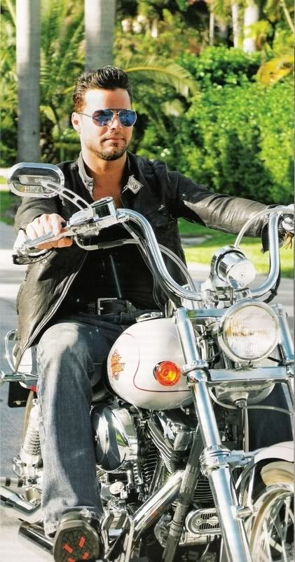 Oh wow. Ricky Martin and a motorbike. Hello dreams!