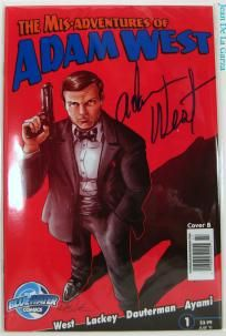No Slice Mis-Adventures of Adam West #1 B Signed Variant Batman Bluewater Comics FREE Shipping +Spin