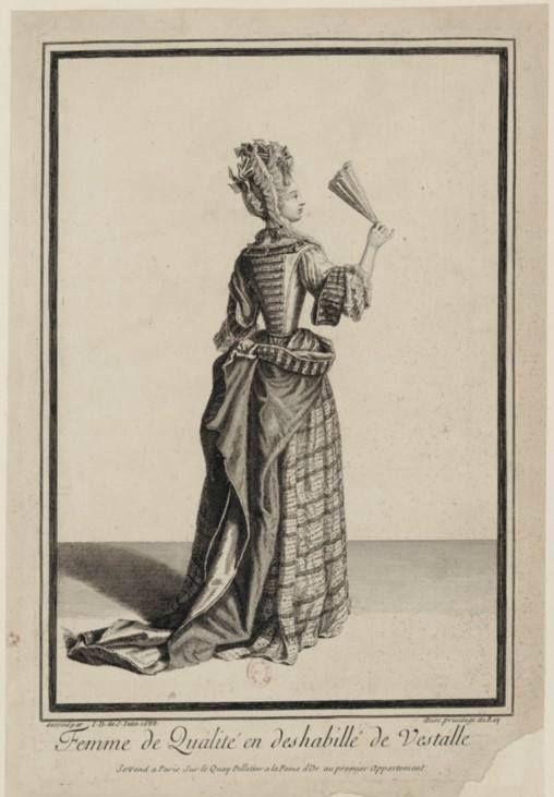Jean Dieu de Saint-Jean (1654?-1695) - Femme de qualité en deshabillé de vestalle, 1688 - Paris, Bibliothèque Nationale de France