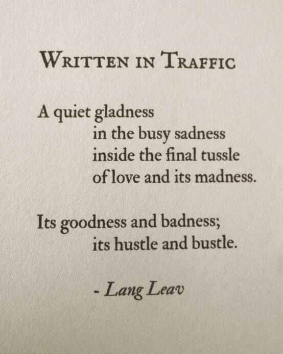 Written In Traffic