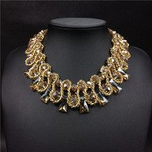 HandWoven Crystal Collar Necklaces Fashion Women Jewelry Choker Necklaces & Pendants