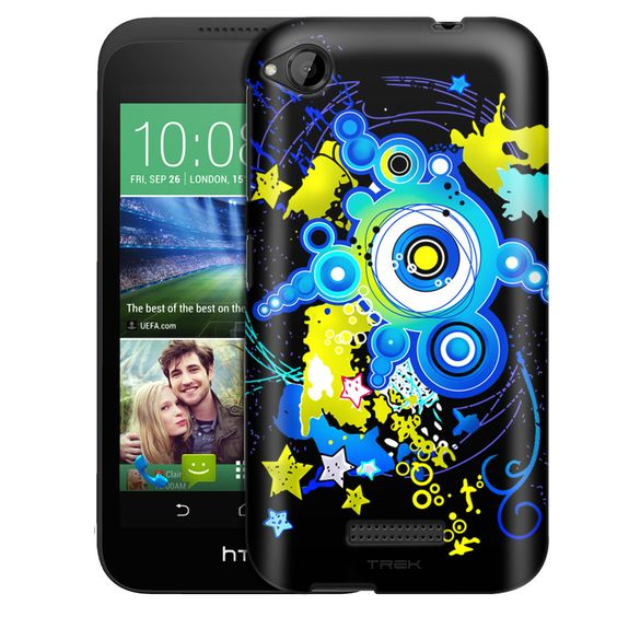 HTC Desire 320 Blue Daze on Black Slim Case