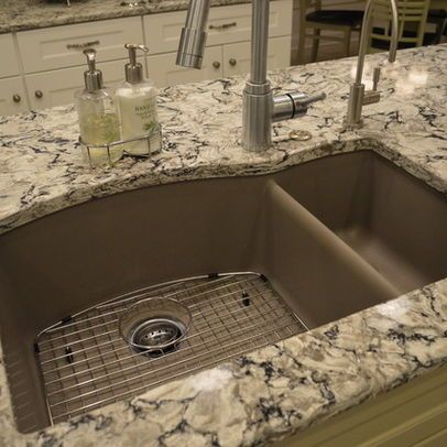 Blanco truffle sink with cambria bellingham quartz in for Silgranit countertops