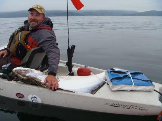 Kayak fishing halibut hobie pro angler kayak fishing for Halibut fishing seattle