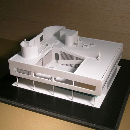 Favori Villa Savoye craft kit for making an architectural model of Le  CU58