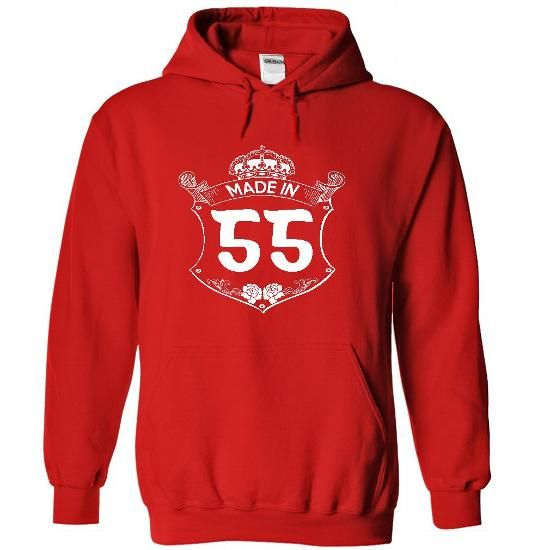 Made in 55 - Hoodie, t shirt, hoodies, t shirts - #harry potter sweatshirt #sweater for teens. CLICK HERE => https://www.sunfrog.com/Names/Made-in-55--Hoodie-t-shirt-hoodies-t-shirts-7904-Red-22744579-Hoodie.html?68278
