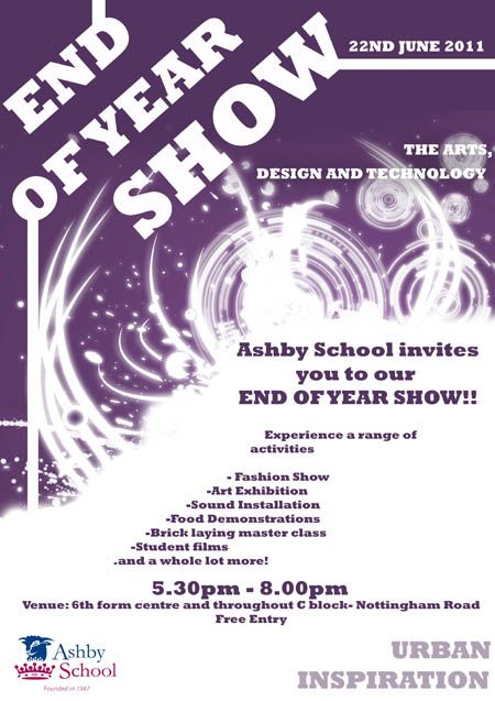 End of Year Show  from the Ashby School - 2011