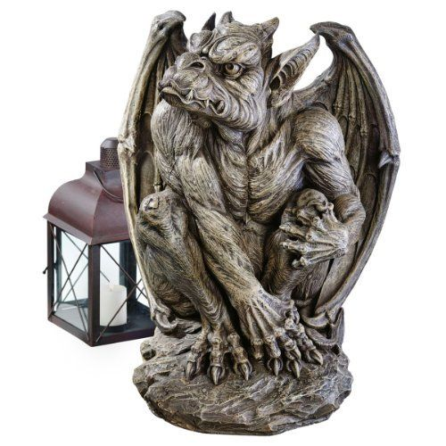 Silas the Sentry Gargoyle Sculpture in Gothic Stone by Design Toscano. Save 46 Off!. $135.00. Gothic stone finish. Cast in quality designer resin. Design Toscano exclusive. JE11211701 Features: -Sculpture.-Design Toscano exclusive. Construction: -Quality designer resin construction. Color/Finish: -Gothic stone finish.