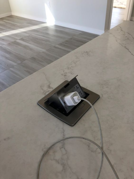 Kitchen Countertop Pop Up 20a Gfci Power Outlet Stainless Steel