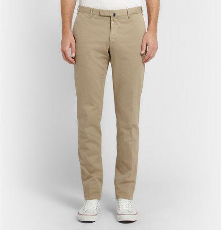 IncotexFour Season Slim-Fit Cotton-Blend Chinos