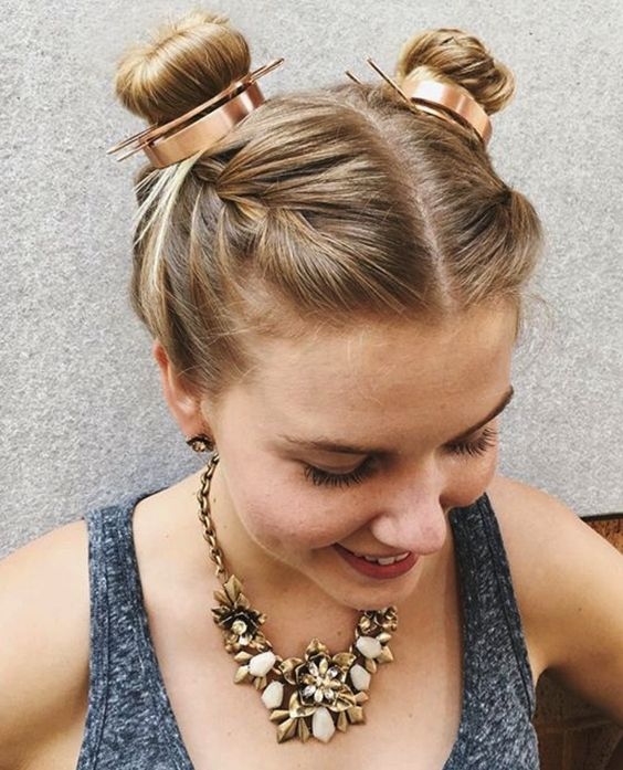 Our #hotd proves that (sometimes) two buns are better than one! #NoMoreHairDonts: