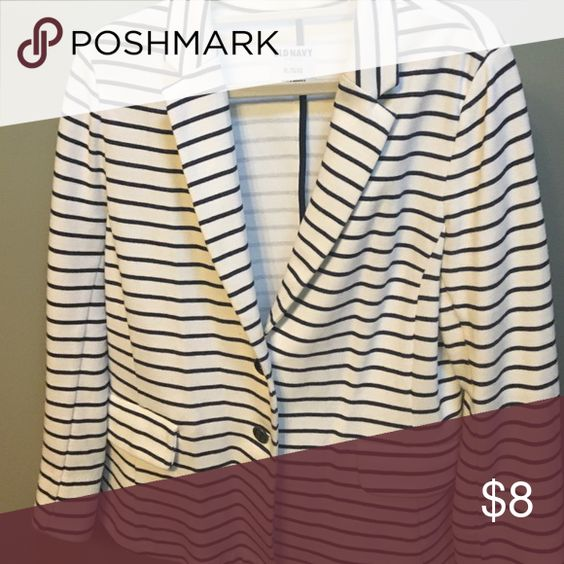 Old navy jersey blazer Nautical stripes Old Navy Jackets & Coats Blazers