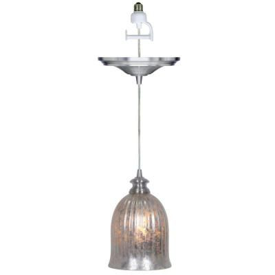 Home Decorators Collection Mary 1 Light Brushed Nickel Pendant Conversion Kit With Mercury Glass