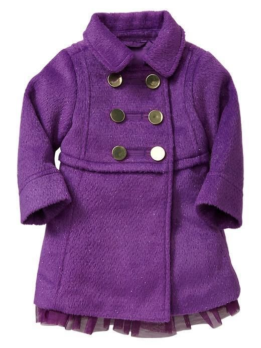Nwt baby gap holiday wonderland purple lurex coat jacket girls 5