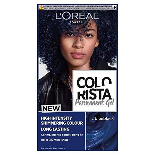 L Oreal Colorista Blue Black Permanent Hair Dye Gel Long Lasting