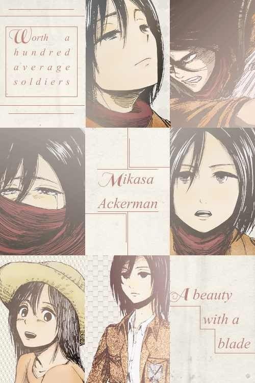 Snk Mikasa Ilustrasi Karakter Gambar Karakter Seni Anime Wallpaper iphone aesthetic mikasa