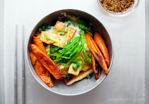 ... Roasted Carrots and Snow Peas | FOOD | Pinterest | Crispy Tofu, Tofu
