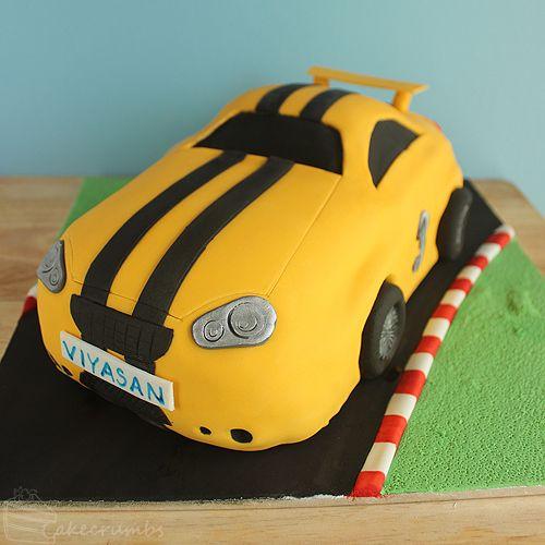 Cakecrumbs' Race Car Cake