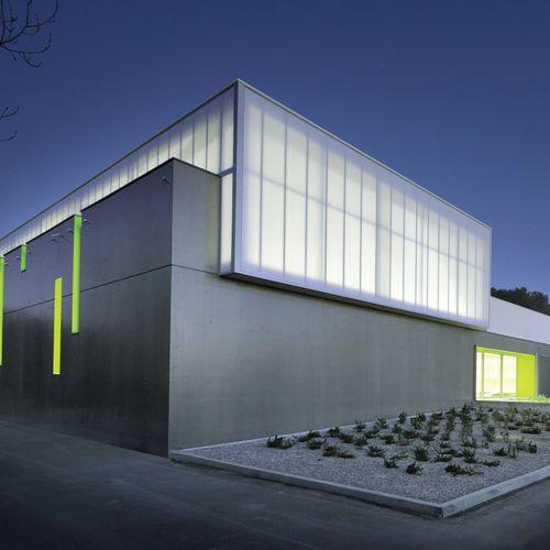 Platten-Vorhangfassade / Isolierglasplatten / aus Aluminium und Glas / hochwiderstandsfähig DANPATHERM® Danpal