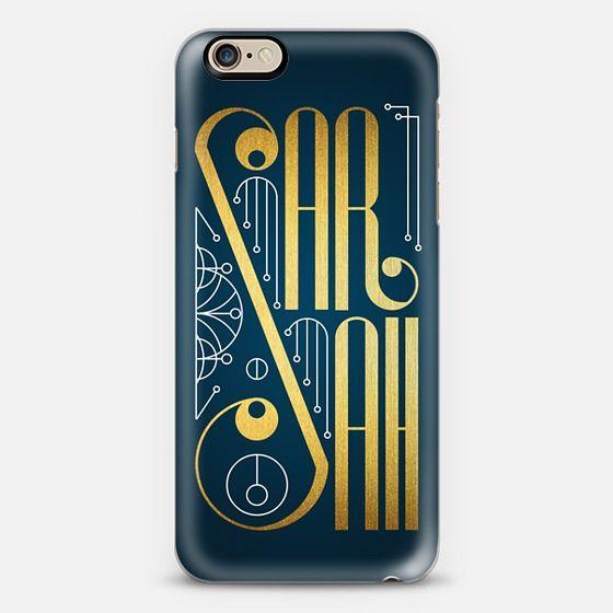 Sarah (Gold Lettering Art Deco) - New Standard Case #Sarah #lettering #typography #name #gold #golden #artdeco #artnoveau #deco #noveau #steampunk #ornate #letter #case #iphone #cover #iphones6 #phone #casetify #transparent