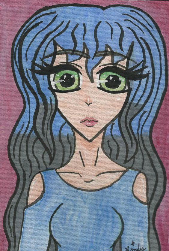 Große Leinwand Malerei blau Pop Art moderne von SindyOriginalArt