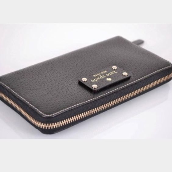 Kate Spade Wallet In new condition, authentic black Kate spade wallet kate spade Bags Wallets