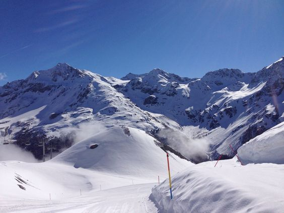 Sulden am Ortler (Südtirol) Skigebiet Langenstein April 2014