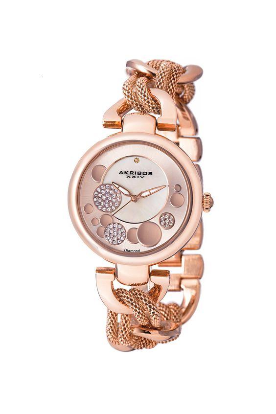 Women's Crystal Mesh Link Bracelet Watch on HauteLook