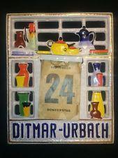 Ditmar Urbach mimořádně vzácný České Art Deco Reklama Kalendář plaketa