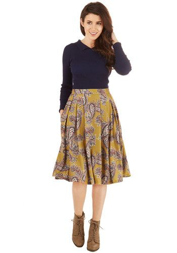 What Can I Sway? Skirt in Mustard