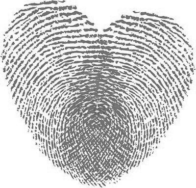 """Want this fingerprint heart tattoo... Omg I'll be able to get each of the girls thumb prints! Although the """"criminal"""" in me I guess lol is Leary of finger prints immortalized forever ;)"""