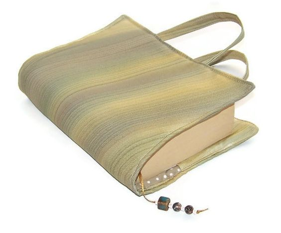 Book Cover Bag Vintage Kimono Silk Buttermilk by WhimsyWooDesigns, £16.00