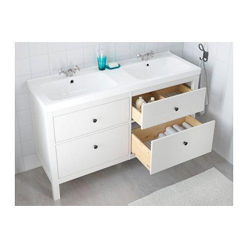 HEMNES / ODENSVIK Sink cabinet with 4 drawers, black-brown stain ...
