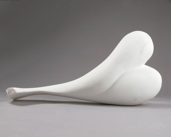 Sculpture by #Charles Kaplan. #art #sculpture #marble #curves #white