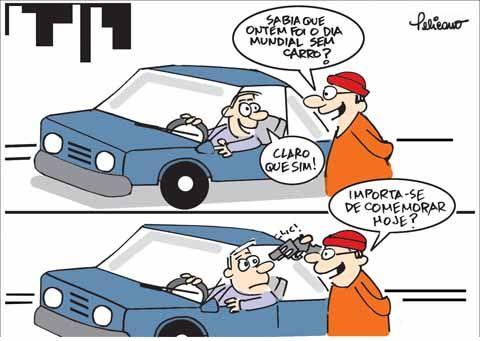 Ontem foi o Dia Mundial sem Carro...