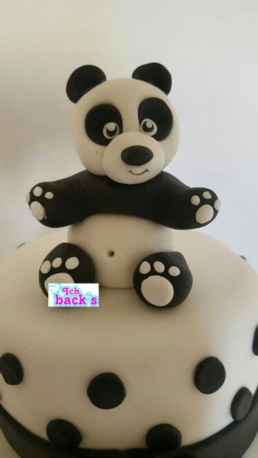 panda bear fondant ich back 39 s pinterest panda bears. Black Bedroom Furniture Sets. Home Design Ideas