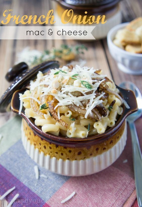 French Onion Mac and Cheese. All the wonderful flavors of French Onion ...