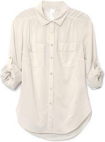 classic wardrobe staple: white silk top