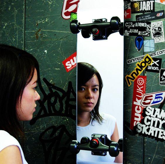 Skate Spiegel waagerecht oder horizontal kaufen auf darumbinichblank.de