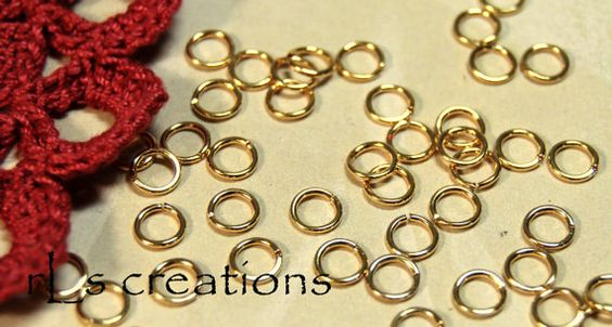 Jumprings 5.5MM 20GA Gold Plated by rlscreations on Etsy (Craft Supplies & Tools, Jewelry & Beading Supplies, Findings & Hardware, jumpring, gold plated, goldplate, round, open, connector, 20ga, 20 ga, jump rings, metal, 5mm, 5 mm, findings)