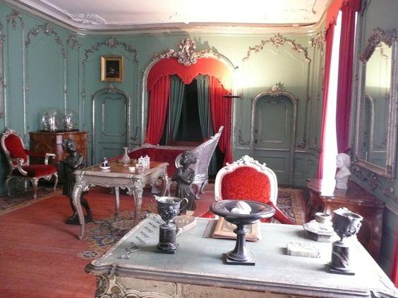 Zimmer im Damenflügel von Schloss Sanssouci in Potsdam- aufgenommen und gepinnt vom Immobilien Büro in Hannover Makler arthax-immobilien.de