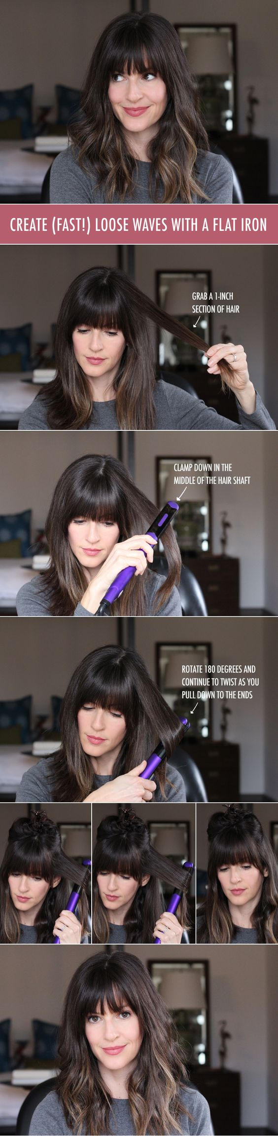How to create waves with a flat iron. #sallybeauty #ad