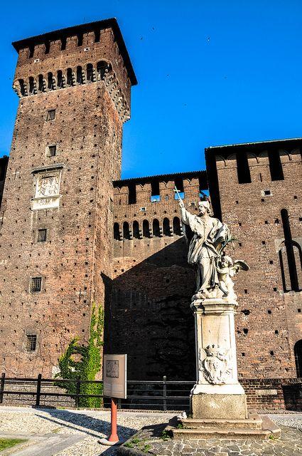 La torre di Bona di Savoia - Il Castello Sforzesco di Milano, province of Milan Lombardy Italy #WonderfulExpo2015 #WonderfulMilan