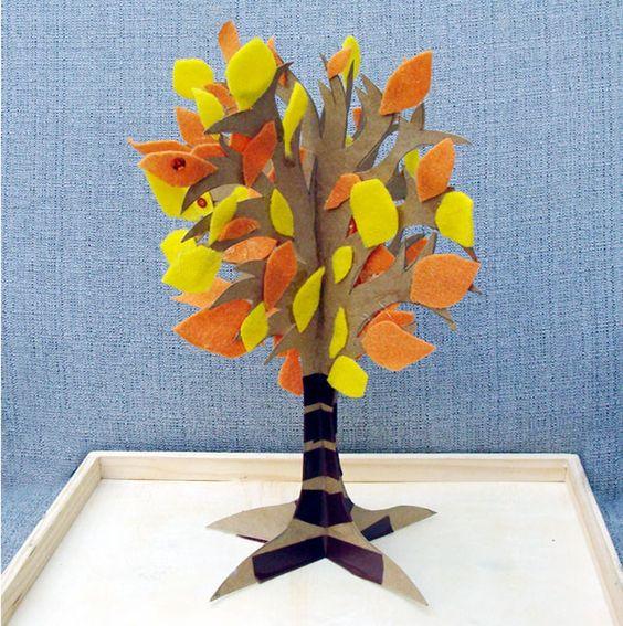 3d fall felt tree