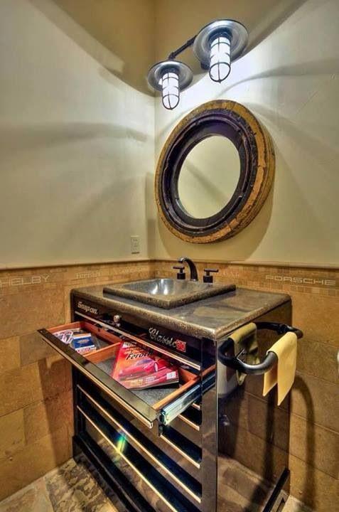 Pinterest the world s catalog of ideas for Garage bathroom ideas