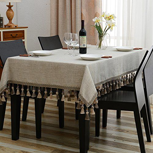 European Style Tablecloths Fabric Cotton Linen Retro Tea Table Cloth Rectangle Tablecloth T Black Kitchen Faucets Coffee Table To Dining Table Dinning Table